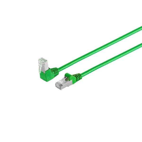 Cable de red RJ45 CAT 6 S/FTP PIMF angulado-recto verde 2m