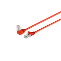 Cable de red RJ45 CAT 6 S/FTP PIMF angulado-recto rojo 7,5m
