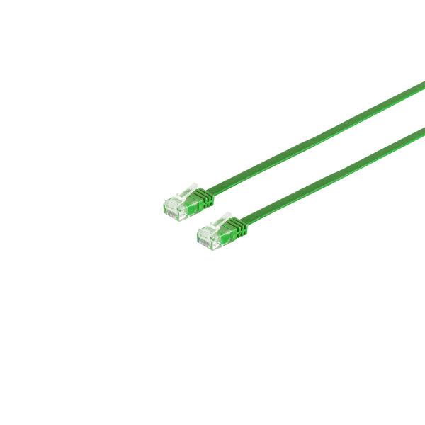 Cable de red Rj45 CAT 6 U/UTP plano verde 0,25m