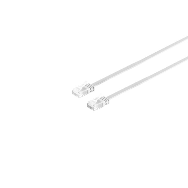 Cable de red Rj45 CAT 6 U/UTP plano blanco 0,5m