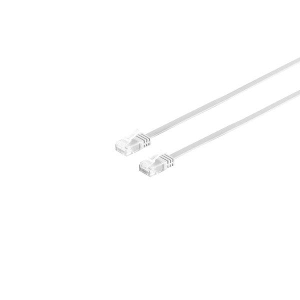 Cable de red Rj45 CAT 6 U/UTP plano blanco 10m