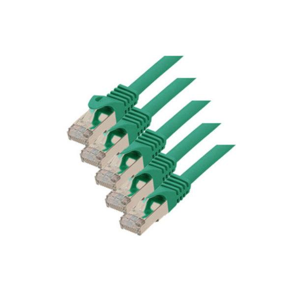Cable de red RJ45 CAT 7 S/FTP PIMF libre de halógenos (5 unidades) verde 3m