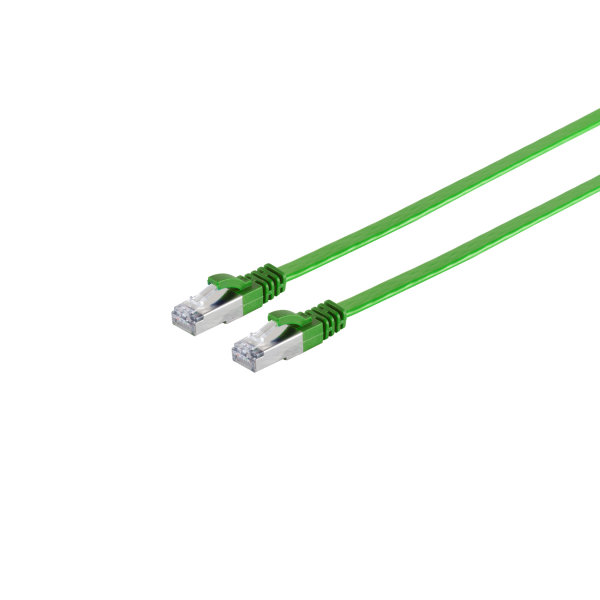 Cable de red RJ45 CAT 7 Flat U/FTP plano verde 10m