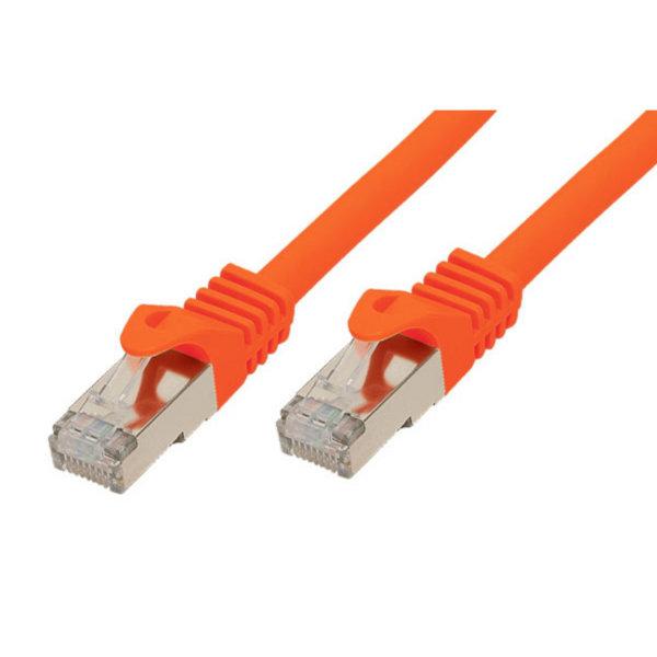 Cable de red RJ45 CAT 7 S/FTP PIMF libre de halógenos naranja 0,5m
