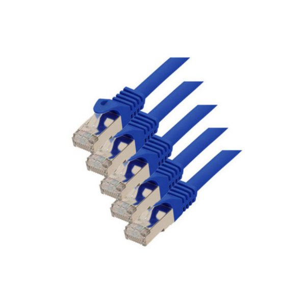 Cable de red RJ45 CAT 7 S/FTP PIMF libre de halógenos (5 unidades) azul 1m