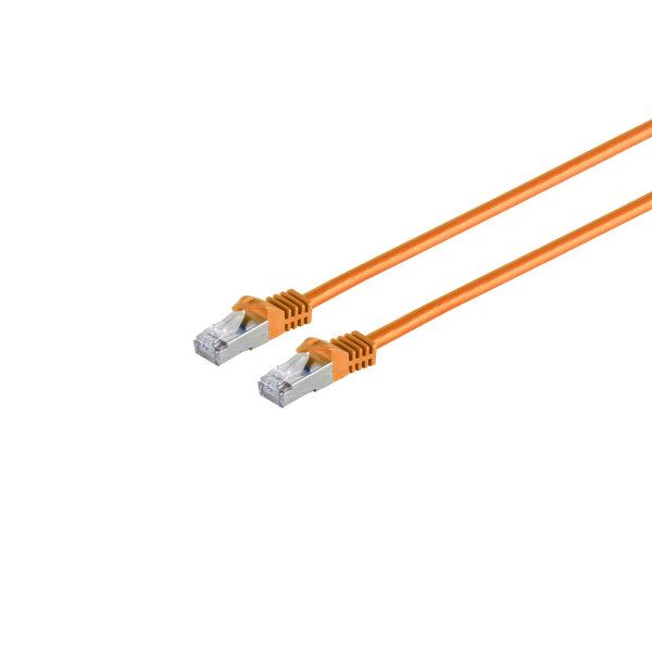 Cable de red RJ45 CAT 7 S/FTP PIMF libre de halógenos naranja 1m