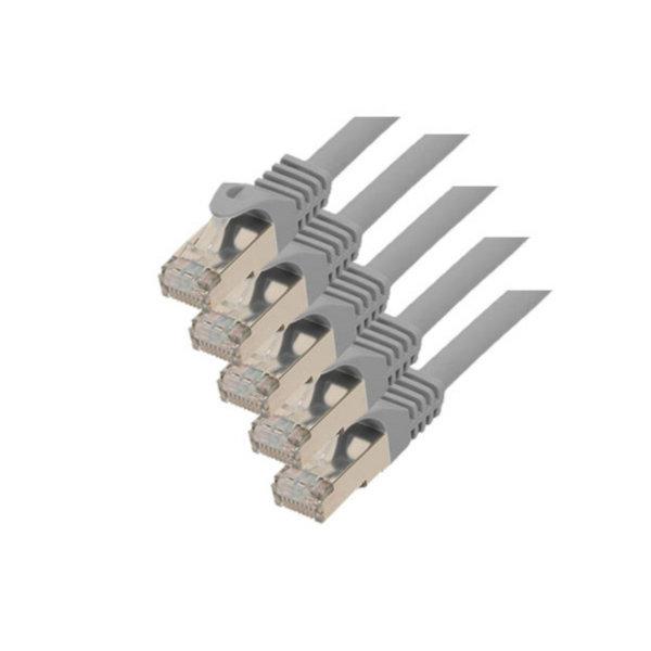 Cable de red RJ45 CAT 7 S/FTP PIMF libre de halógenos (5 unidades), 5m