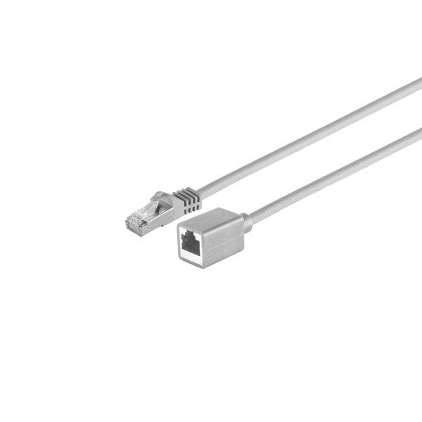 Cable de red alargador RJ45 CAT 7 S/FTP PIMF libre de halógenos gris 0,5m