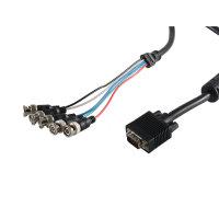 Cable de monitor 15 pin HDD a 5 conectores BNC blindado...