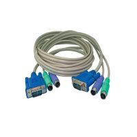Cable KVM conector VGA macho/2xPS2 macho a VGA...