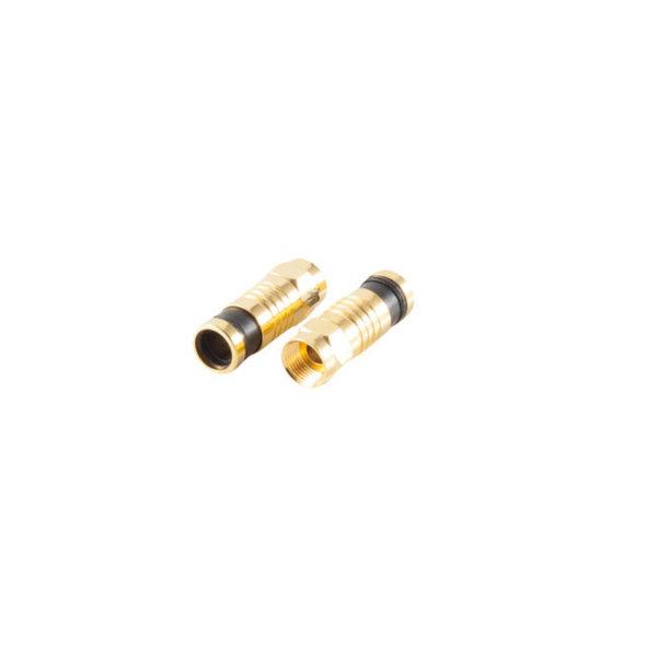 10xConectores de compresión F chapado en oro para cable de 7,2mm