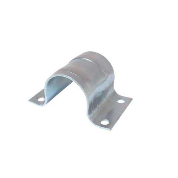 Abrazadera del mástil de acero galvanizado con ranuras de sujeción adicionales para tubo 48 a 50 mm
