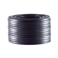 Cable de 4 hilos plano negro 10m