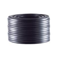 Cable de 4 hilos plano negro 50m