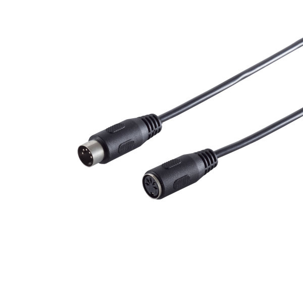 Cable DIN - Alargador - Conector DIN 5 pines macho a conector DIN 5 pines hembra  2,5m