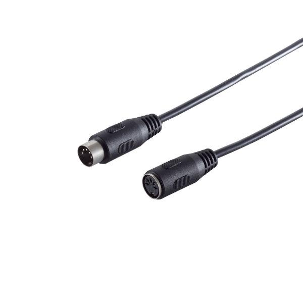 Cable DIN - Alargador - Conector DIN 5 pines macho a conector DIN 5 pines hembra  5,0m