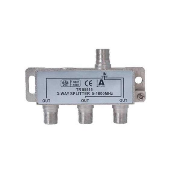 Serie F repartidor interior 3 salidas 5 a 1000 MHz 85 dB