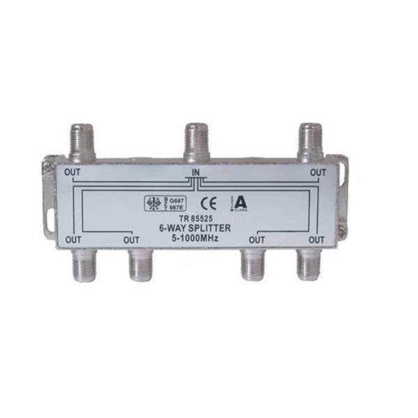 Serie F repartidor interior 6 salidas 5 a 1000 MHz 85 dB