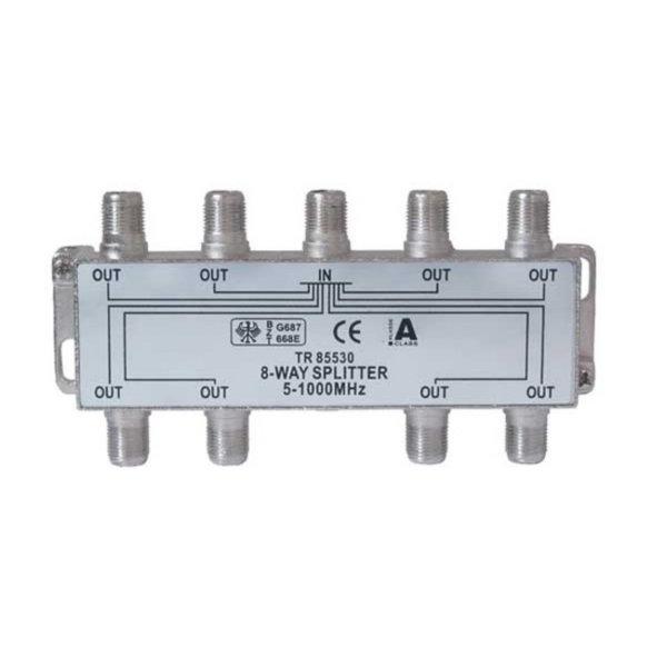 Serie F repartidor interior 8 salidas 5 a 1000 MHz 85 dB