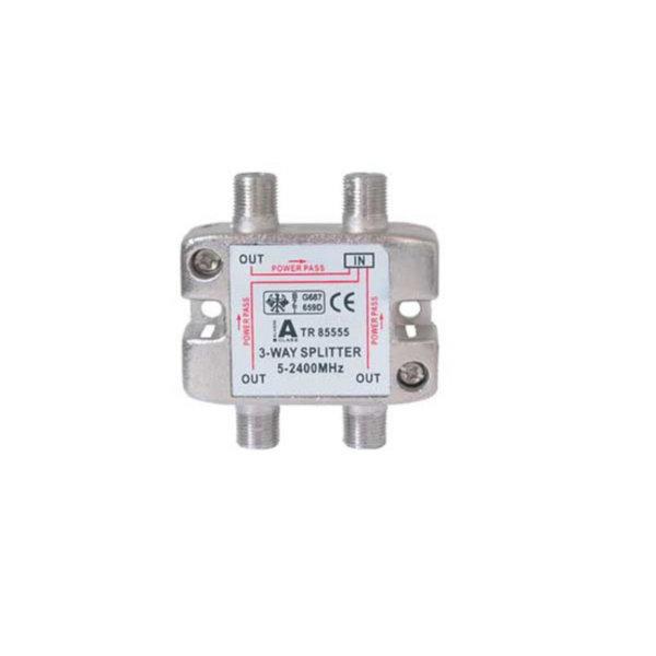 Serie F repartidor interior 3 salidas 5 a 2400 MHz 85 dB