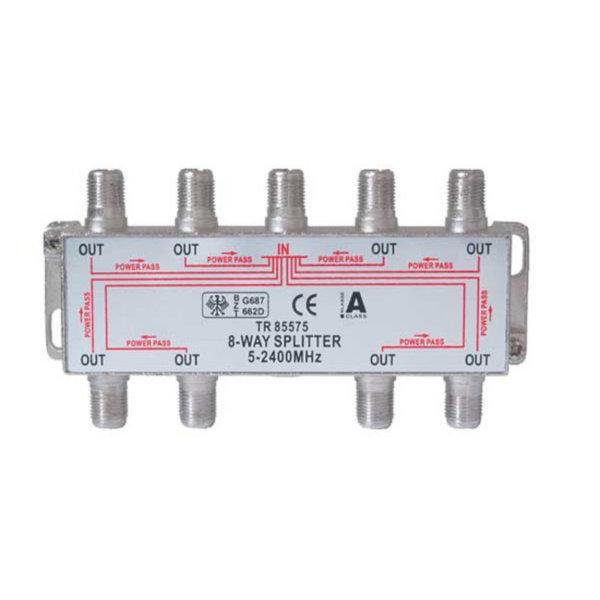 Serie F repartidor interior 8 salidas 5 a 2400 MHz 85 dB