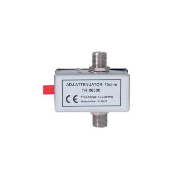 Regulador de reducción SAT, 45-2400 MHz 0-20 dB tecnología F