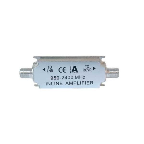Amplificador SAT en línea 950 a 2400 MHz 16 a 20 dB