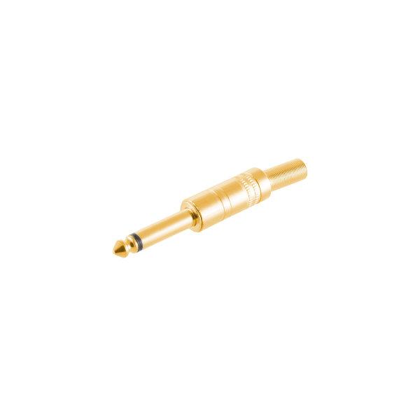 Conector 6,3mm jack mono metálico chapado en oro macho