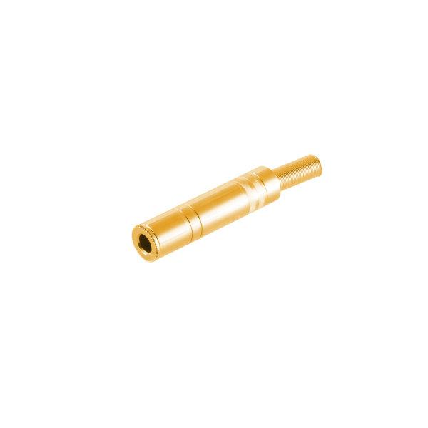 Conector 6,3mm jack mono metálico chapado en oro hembra
