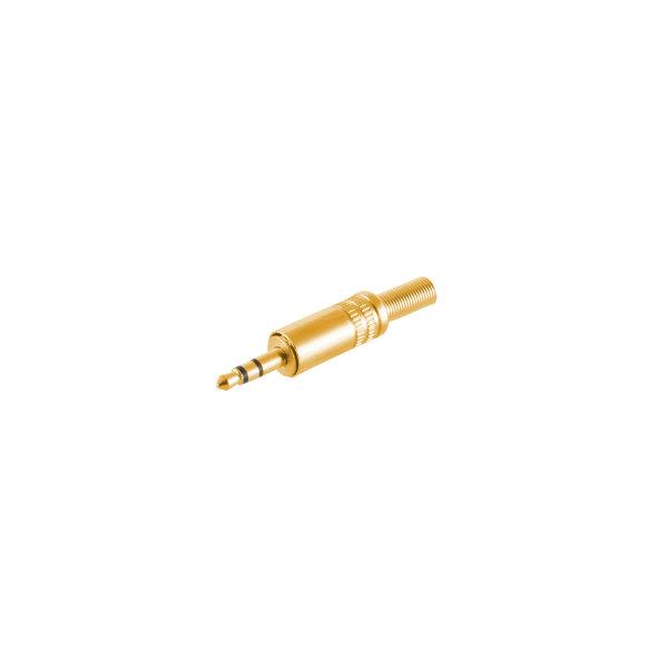 Conector 3,5mm jack estéreo metálico chapado en oro macho