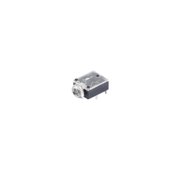 Conector 3,5mm jack hembra para empotrar estéreo cerrado