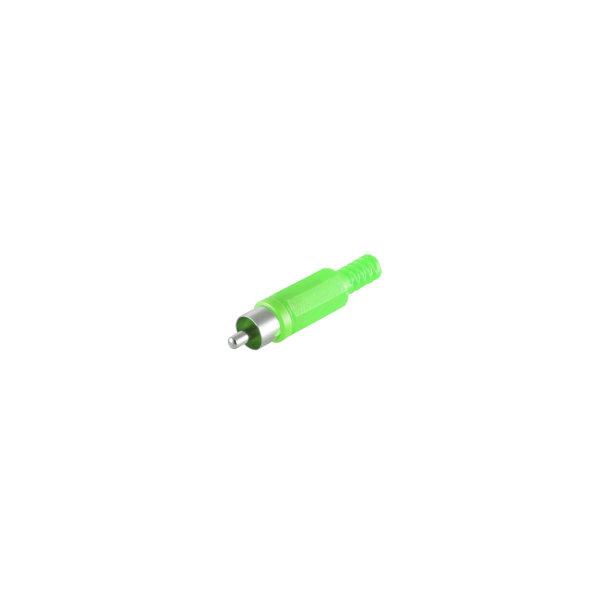 Conector RCA verde macho