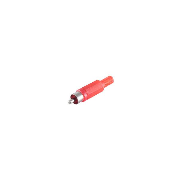 Conector RCA rojo macho