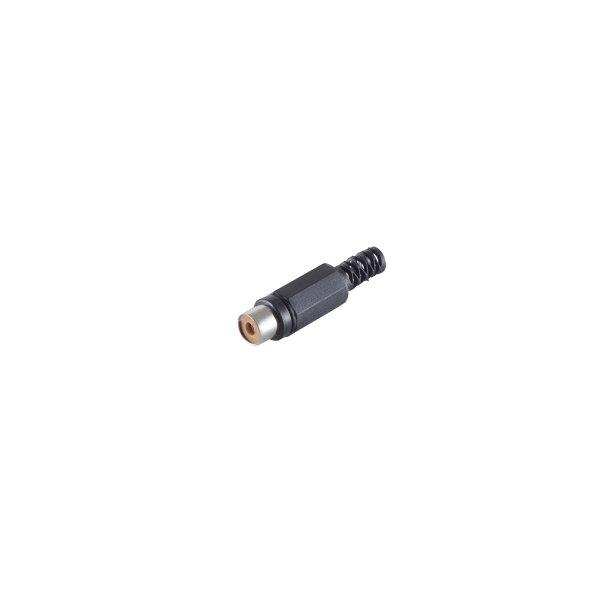 Conector RCA hembra negro